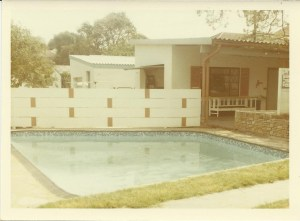 The pool, the garage, dance floor and is that the avo tree I see?