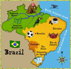 Belem is between the Toucan and the monkey.
