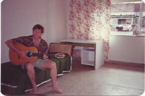 Tony in the flat in Bombay